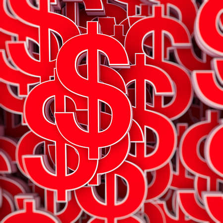 Abstract background with dollar symbol photo