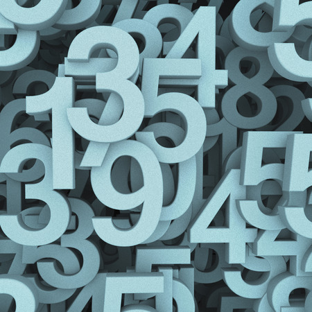 digital number: Abstract numbers background with noise