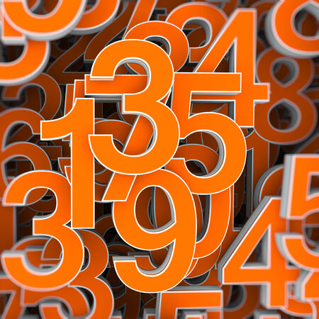 numbers abstract: Abstract numbers background as concept