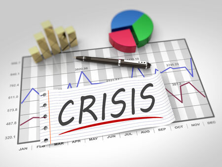 Crisis and management as a concept photo