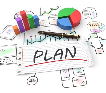 Business strategy planning as a concept 스톡 콘텐츠