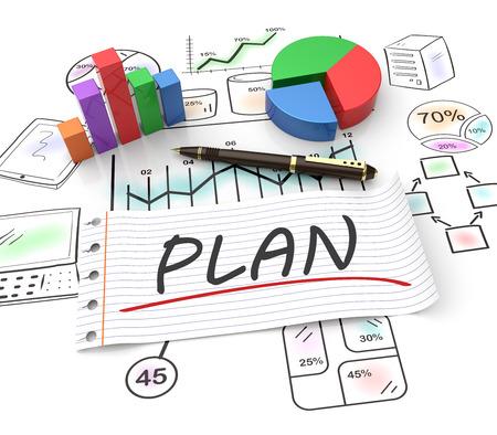 Business strategy planning as a concept Standard-Bild