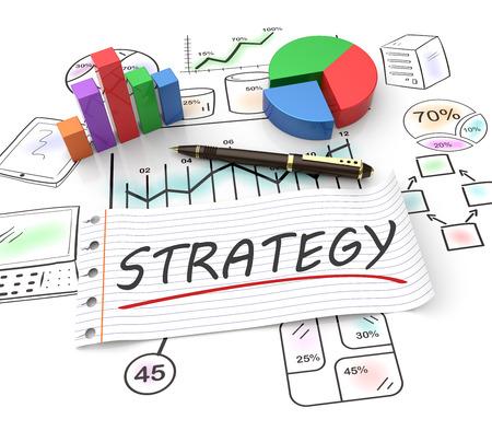 planificacion estrategica: Estrategia y gestión como un concepto Foto de archivo