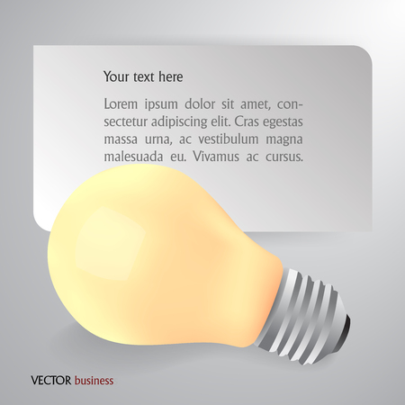 expanding: Light bulb idea as concept