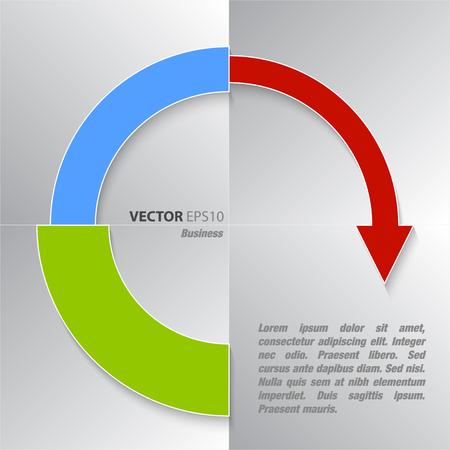 desarrollo económico: Negocio gráfico financiera y el desarrollo económico Vectores