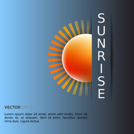rising sun: El sol que se levanta como una plantilla Vectores