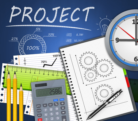 planeaci�n estrategica: Proyecto de desarrollo de negocios como concepto Foto de archivo