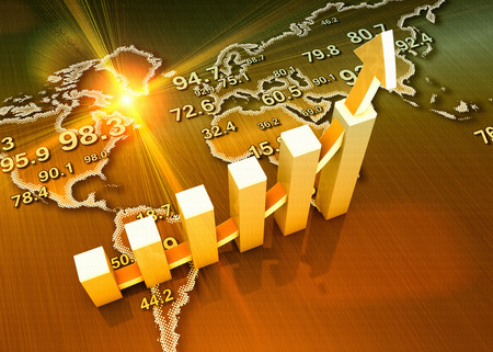 World global economic growth as concept