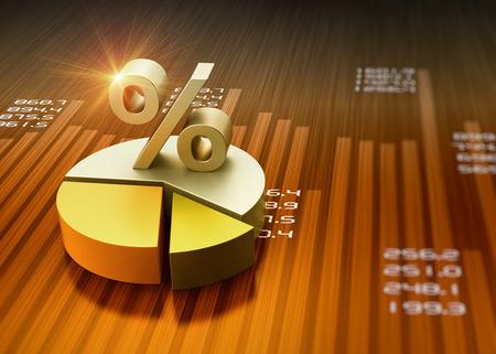 Business financial graph chart as concept