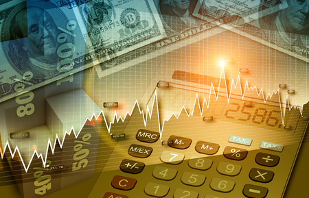 Financial and business chart and graphs Stock fotó - 29601370