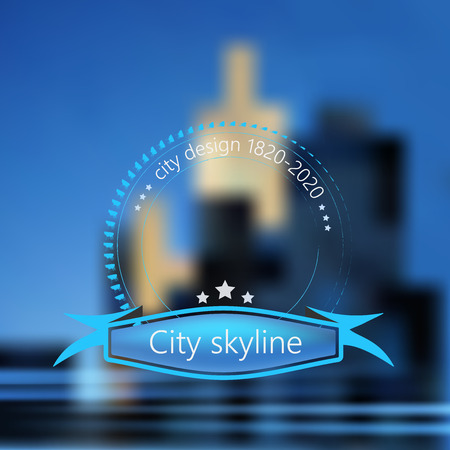 uptown: City skyline as background concept Illustration