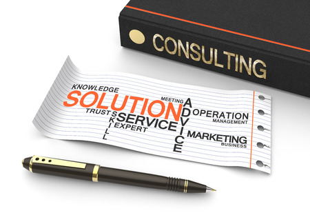 consulting team: Consulting word written on the book as a concept