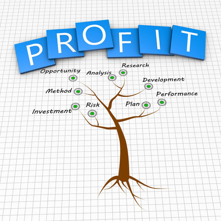 Tree as a profitable business concept photo