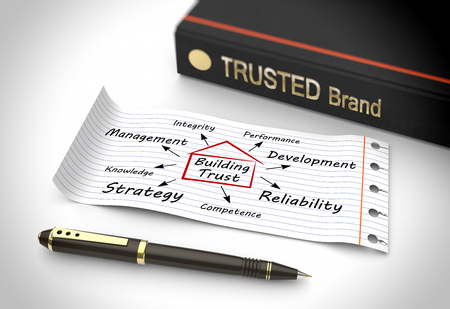 trust: Building trust as a concept Stock Photo