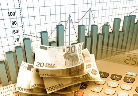 L'investissement dans les marchés financiers notion Banque d'images