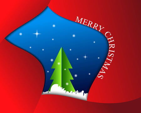 Merry Christmas background with Christmas tree Vector