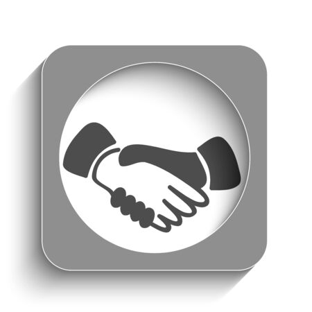 congratulating: Contract web icon with shadow Illustration