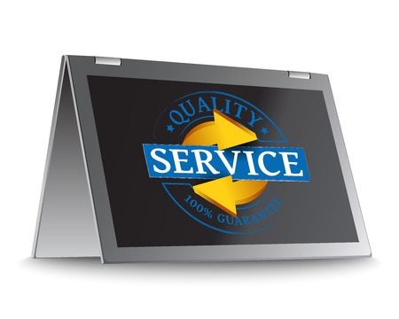 Service quality grunge stamp as concept Vector