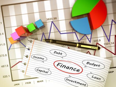 Financial business chart and economic development
