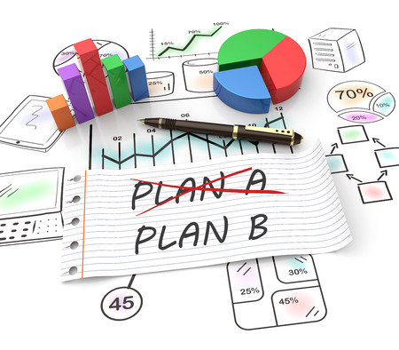 b ball: Business plan strategy changing concept Stock Photo