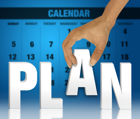 event marketing: Word plan as a business concept Stock Photo