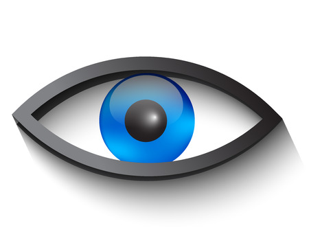 Eye icon with a long shadow Vector