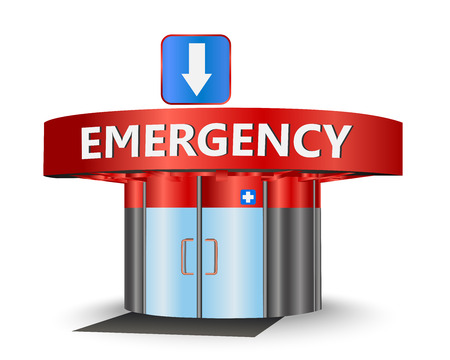 emergency response: Emergency building as a concept symbol