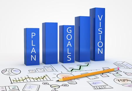 개념으로 비즈니스 전략 비전