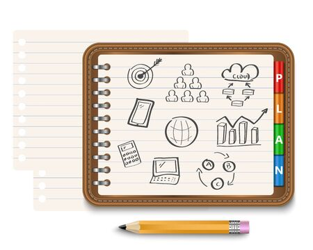 personal organizer: Business strategy planning as a concept Illustration
