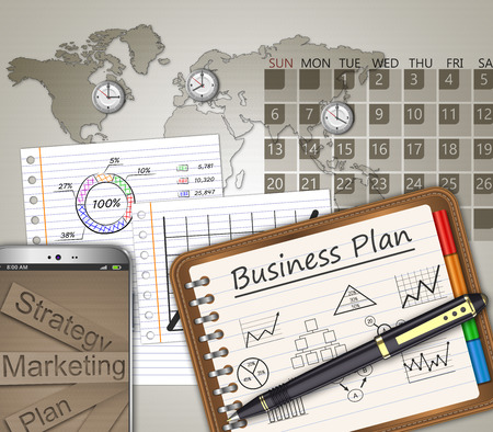 strategic: Business strategy planning as a concept Stock Photo