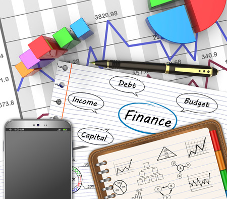 Business finance, accounting, analysis graphs as concept