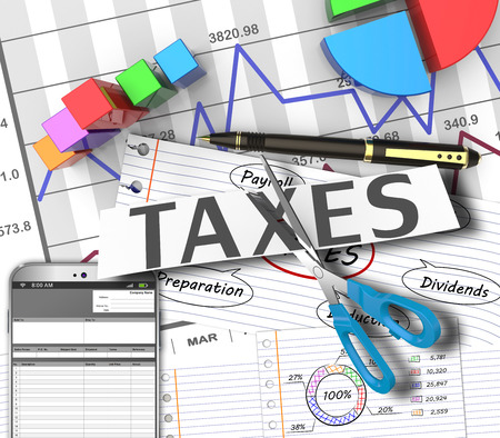 tax returns: Income tax as a concept in the background graphs