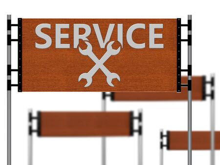Wooden sign that said service as a concept photo