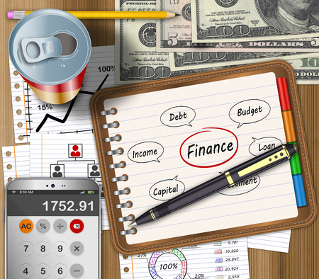 taxes budgeting: Business finance and accounting work office desk Stock Photo
