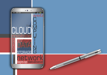 remote access: Smart phone as cloud computing concept design