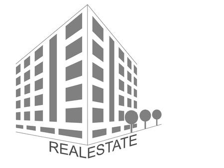 rural development: Home icon abstract concept. Real estate development architecture concept symbol