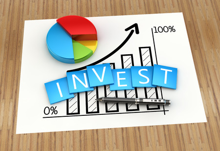 business development: Financial graph of investment and business development Stock Photo