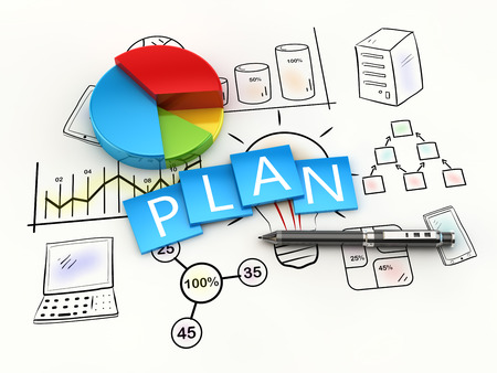planung: Finanzen und Wirtschaftsplanung als Konzept Lizenzfreie Bilder