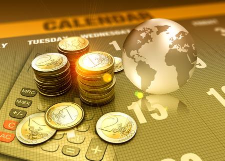 Global economy concept funding