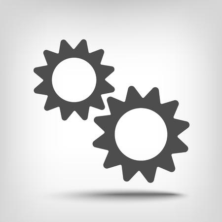pinion: Gears pinion icon as a concept