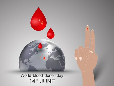 donor: World blood donor day June 14th as concept