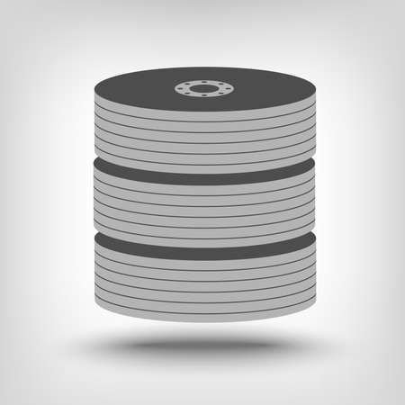 back up: Database storage icon as a concept