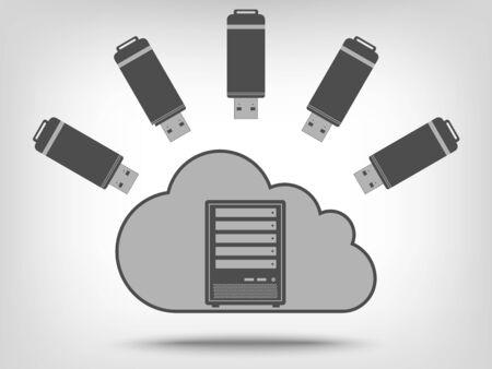 usb disk: USB flash disk icons as concept Illustration
