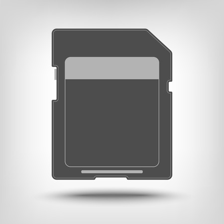 sd: SD memory card icon as concept