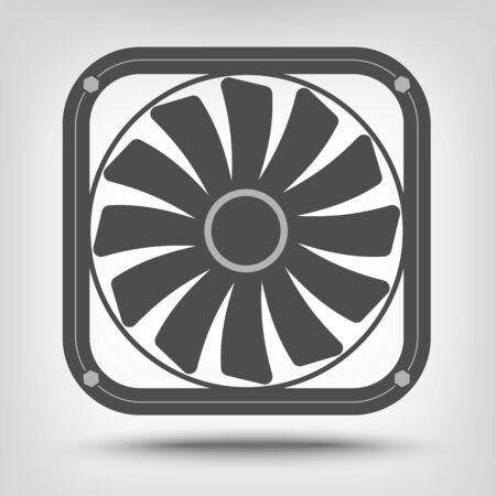 coolant temperature: Computer fan icon as a concept