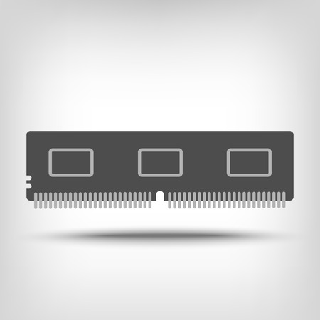 micro drive: Random access memory icon as a concept