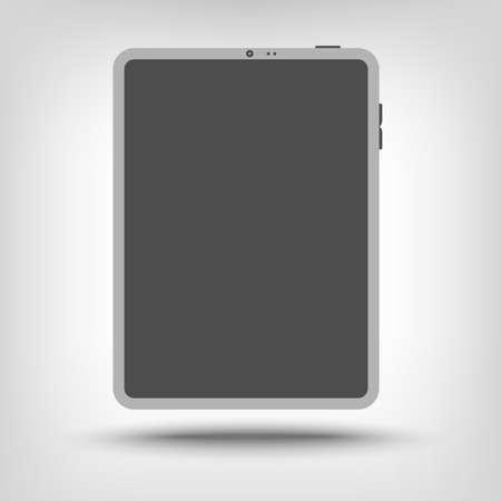 computador tablet: Tablet computer icon as a concept