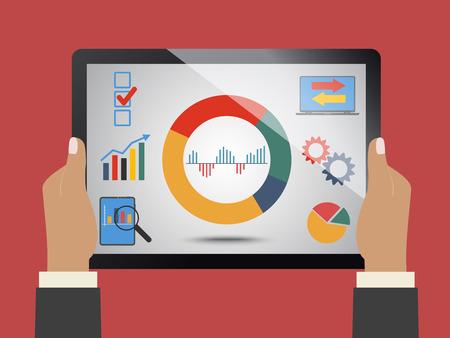 fondos negocios: La comparación de las estadísticas en los negocios, el concepto de tema Vectores