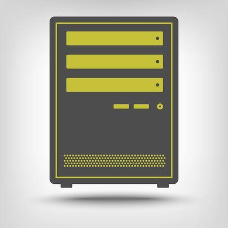 rack: Computer case as an icon concept Illustration