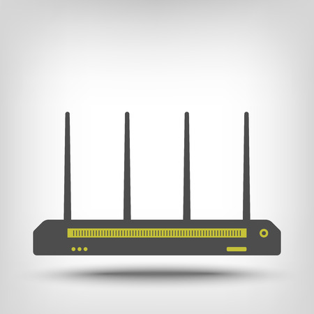 dsl: Wireless router icon as a concept